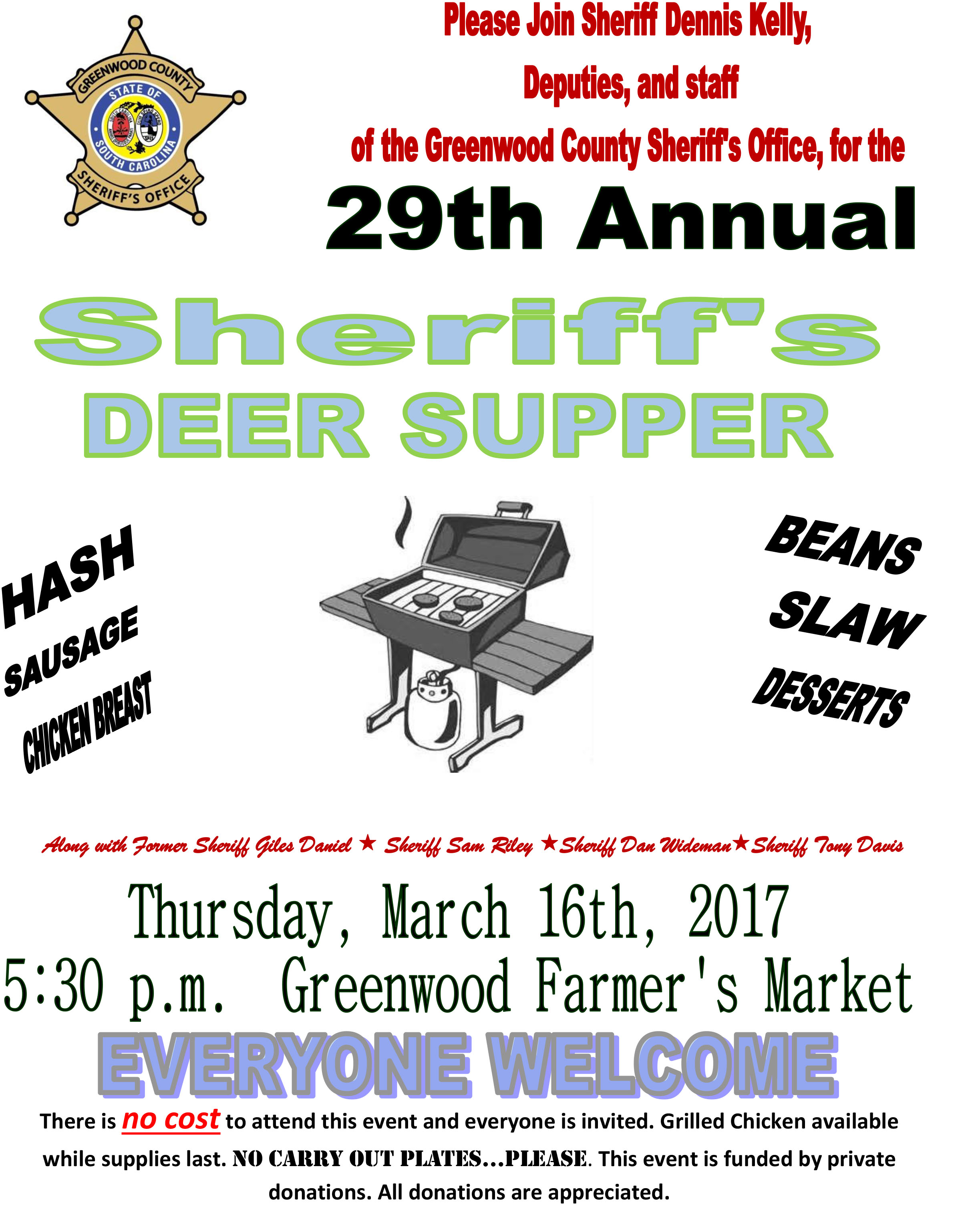 Sheriff's Deer Supper