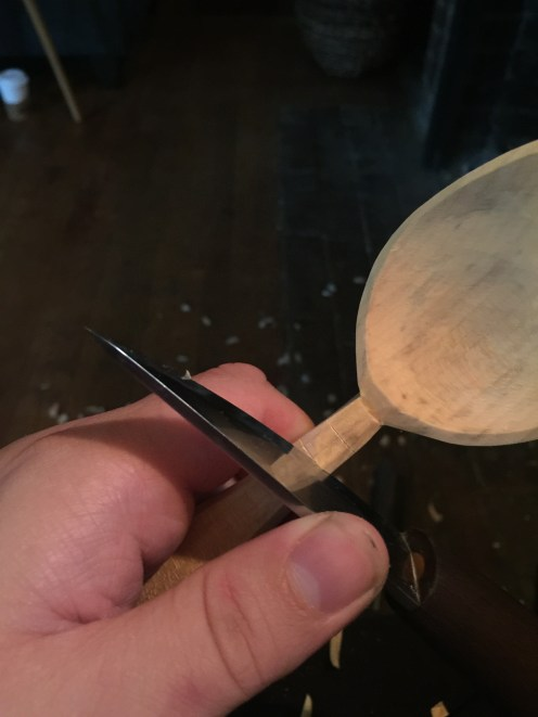 cutting stop cuts with a blade