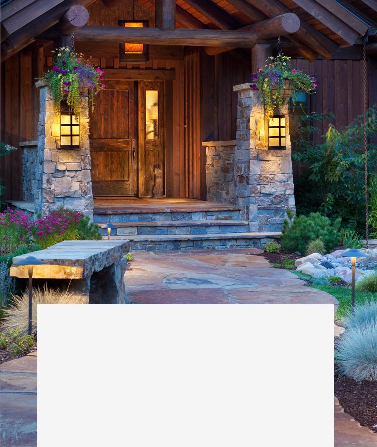 custom stone home