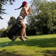 Having Fun On The Tyre Swing at Thirkleby Hall