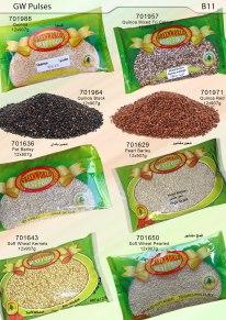Barly, Soft Wheat, Quinoa