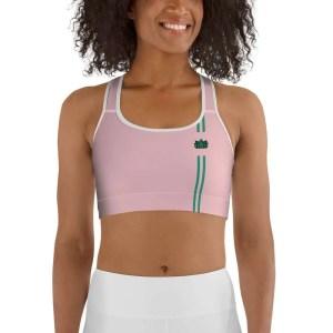 Sujetador deportivo green yoga stripes rosa