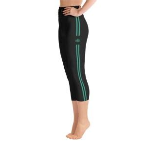 Pantalones cortos green yoga stripes black