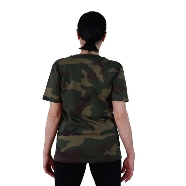 espalda camiseta organica camuflaje hope