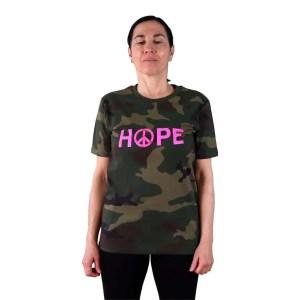 camiseta organica camuflaje hope