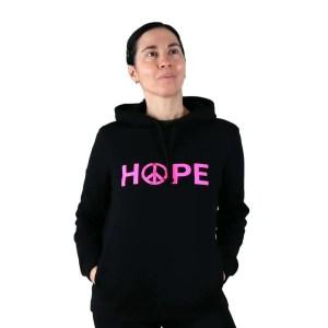 sudadera orgánica hope con capucha
