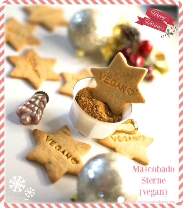 Weihnachtsplätzchen vegan - Knusprig-mürbe Mascobado-Sterne - www.greenysherry.com - #vegan #backen #weihnachten #foodblogger #mascobado #karamell