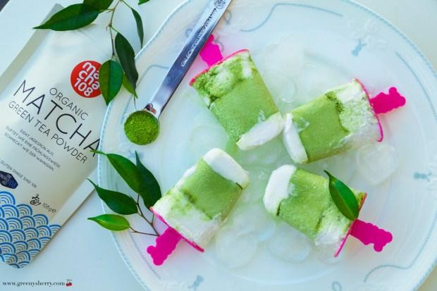 Matcha-Kokos Ice-Pops (vegan, paleo, glutenfrei)