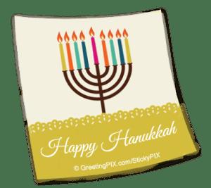 Stix. Happy Hanukkah Minoura