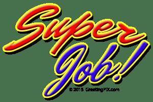 GreetingPIX.com_Word Pictures_ Thanks, Super Job
