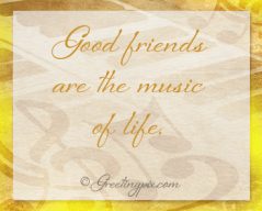Watercolors_ A good friend is the music of life2