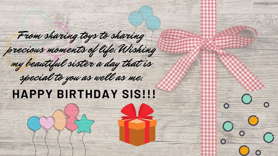Happy Birthday Wishes Messages For Sister Greetingto