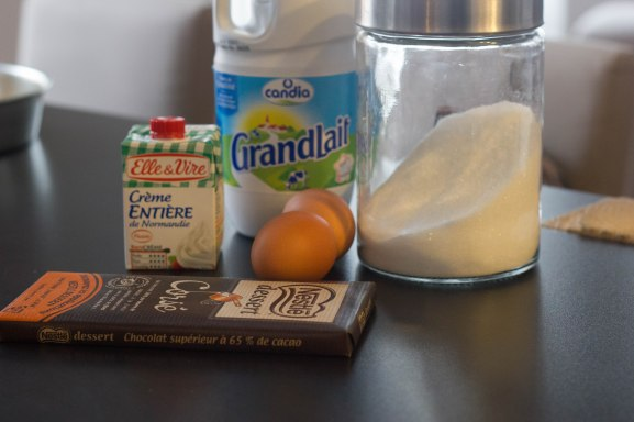 Ganache chocolat ingredients