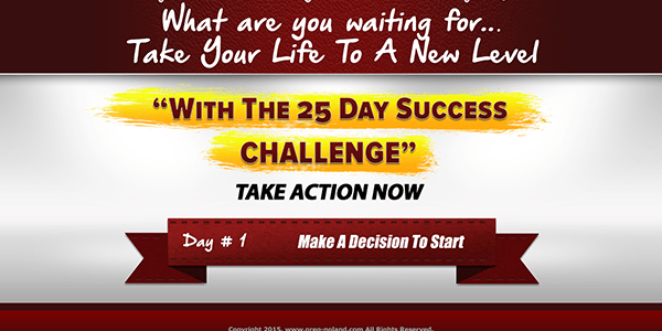 day 1 of the 25 day success challenge