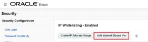 Set the Workfront Eloqua IP range