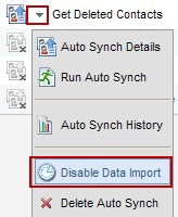 Disable SFDC Data Import