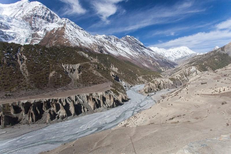 Confluence of Khangsar Khola and Kone Khola, the beginning of the Marsyandi river