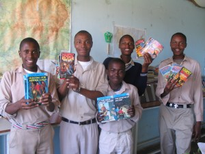 The Hardy Boys: Moraba, Sepheche, Lemeko, Thato, Lefike.