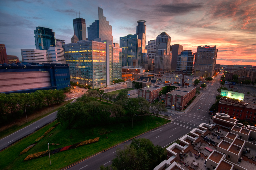 Downtown Minneapolis From Grant Park