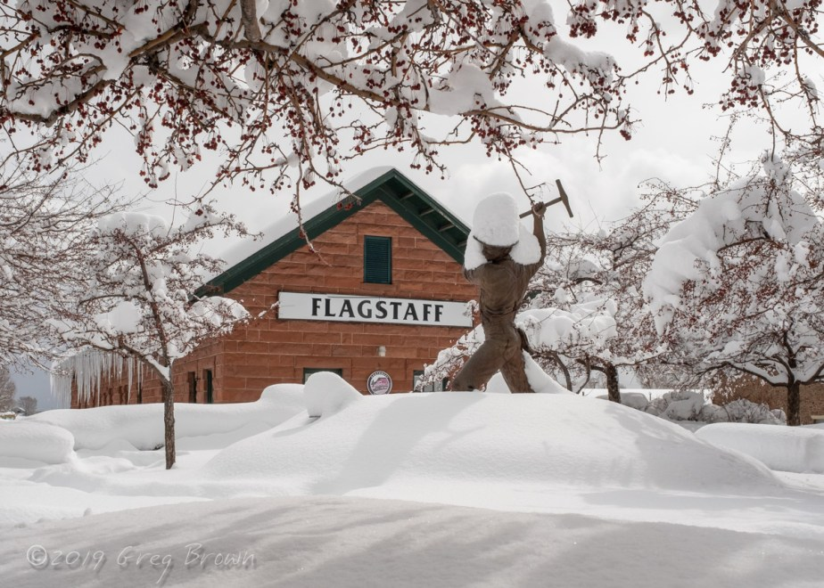 Old Flagstaff Train Station,the morning after the blizzard
