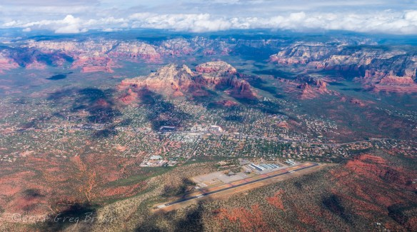 Sedona from the Flying Carpet yesterday...
