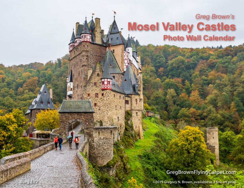"Greg's new 2020 ""Mosel Valley Castles"" calendars"