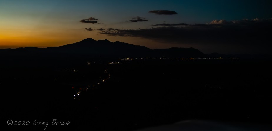 So I made a little sunset flight to Sedona and back, last night…