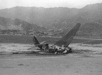 DC-2 destroyed in Hong Kong, Dec 8, 1941