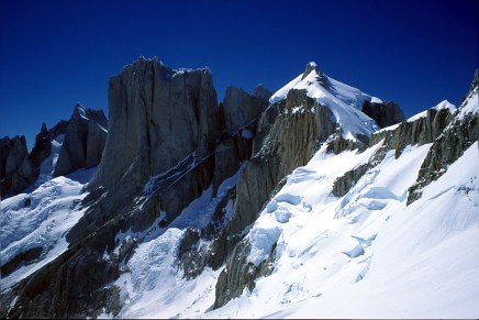 Aguja Tito Carrasco, the West Pillar of Cerro Pollone, and the West Face of Piergorgio