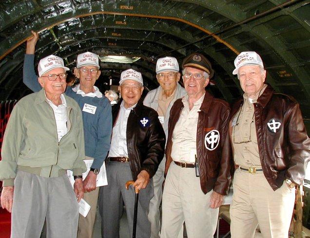 6 CNAC vets in a C-46