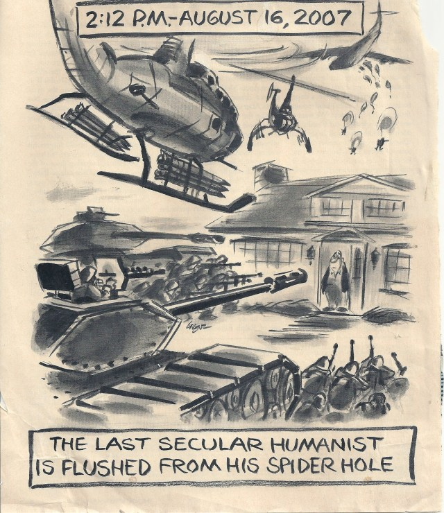 The Last Secular Humanist by Lee Lorenz