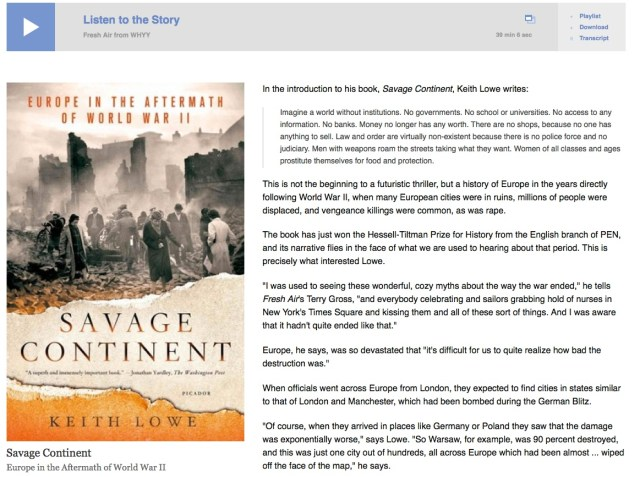 Savage Continent - Fresh Air