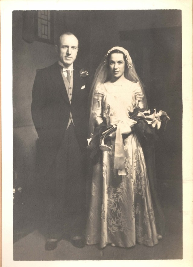 William and Kitsi Bond at their wedding, Peking, May 1935