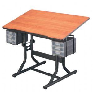 ALVIN® CraftMaster Hobby Station Cherry Woodgrain top