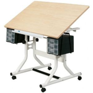 ALVIN® CraftMaster Hobby Station Maple Woodgrain top