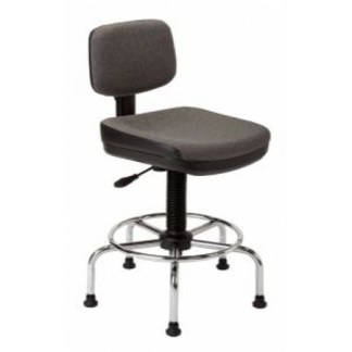 ALVIN® American-Style Draftsman's Chair, Charcoal
