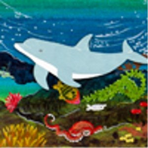 Wyland Reef Series Dolphins Canvas Bd. Kit