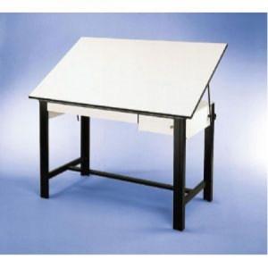 Alvin DESIGNMASTER Black 37.5 x 60 2 White DRAWERS