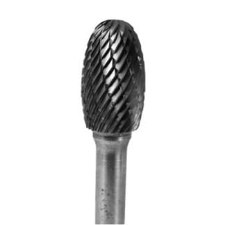 "Carbide Oval 3 /8"" X 19 /32"" Dbl-Cut 1/4' Shank-6"" Long shaft"