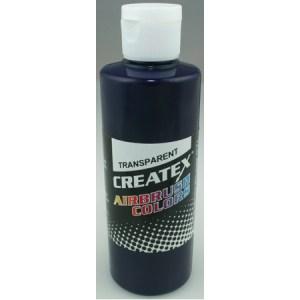 Createx Airbrush Transparent Deep Blue 4 0z.