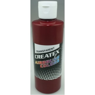 Createx Airbrush Transparent Deep Red 4 0z.
