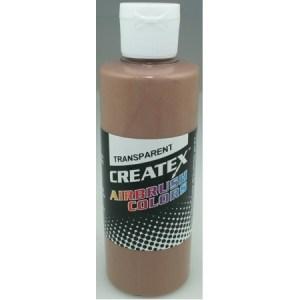 Createx Airbrush Transparent Light Brown 4 0z.