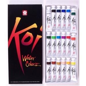 Koi Watercolor - 18 color set (12 ml tubes)