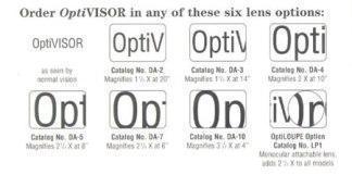 (OptiVISOR Binocular) Replacement Lens LP-3Optical Glass Prismatic Lenses
