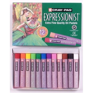 Cray-Pas Expressionist Oil Pastels, Jumbo round, 12 -color set