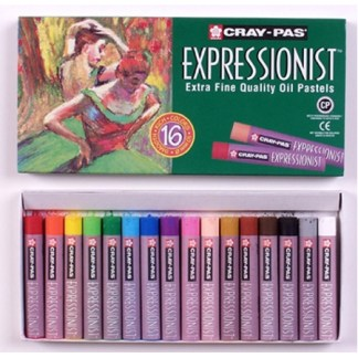 Cray-Pas Expressionist Oil Pastels, Jumbo round, 16 -color set