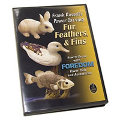 DVD - Frank Russell's Power Carving Fur, Feathers, & Fins