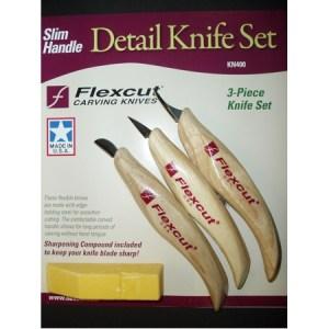 Flexcut KN400 3-Piece Knife Set