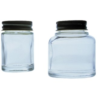 Badger Paint Jars, 3/4 oz Glass, Plain Plastic Cover