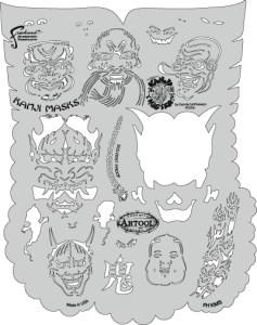 Kanji Masks 7 x 5